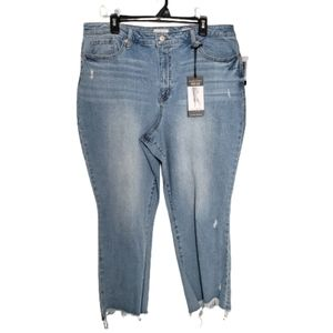 NWT Sofia Jeans Mayra High Rise Crop Flare Size 22